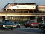 Amtrak 74 crosses Dale Earnhardt Blvd