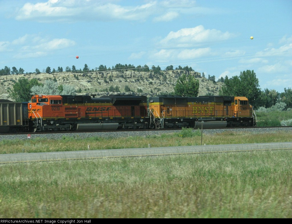 BNSF 9219 & 9863