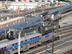 MARC road power and Amtrak switchers congregate together
