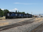 MRL 328 leads a 4-Pack of SD45's west for helper duty