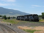 MRL 325 trails the 326, 327 & 328 as they head west for Bozeman Pass helper service