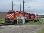 CP 8238, 8206 & 1682 rest on a service track