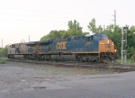 CSX 617 on another light power move from the pig ramp