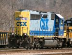 CSX 6280 pulling DODX flatcar and caboose