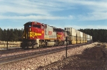 Westbound stack train