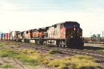 Eastbound stack train continues journey