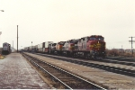 Westbound intermodal nears crew change