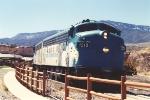 Verde Canyon tourist train departs station