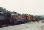 CSX 3007 and three ATSF units waiting assignment