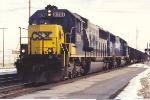 Westbound coal train comes off the C&O onto the B&O
