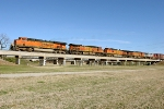 BNSF 7432, 4809, 4678, 4591, and 789
