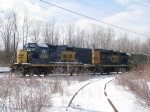 Another view of CSX 2385 and 6985 on CWR train