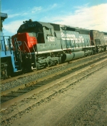 Southern Pacific SD45R No.7437 Provo,Utah November 6,1993.