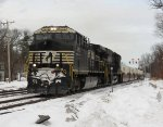 Converted NS #4052 Leads Pan Am Southern Train 23K...