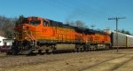 Pan Am Southern Train AYMO With BNSF Power