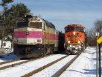 Inbound MBTA Commuter & Pan Am Southern Train AYMO