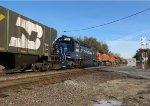 BNSF Loaded Grain Train Blocks Crossing...