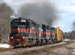 Guilford/PanAm train RUED smokes