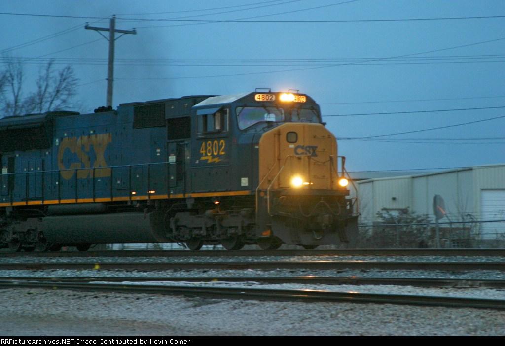 CSX 4802 in Memphis Junction Yard 3/7/09 leading Q275-07