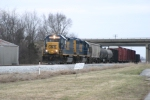 CSX 2368 leads local J756 as they have arrived back at Memphis Jct Yard 2/25/09