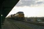 CSX 7868 leads Q212 northbound with 66 autoracks near dusk 3/6/09