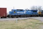 CSX 5971 in Conrail Blue arrives on Q275-08 3/8/09
