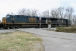 Norfolk Southern 2622 leads Q275-08 across Memphis Jct. Road 3/8/09