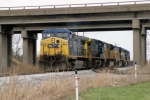 CSX 40 leads Q275 with 7 locomotives as they drop cars at Memphis Jct Yard 3/15/09