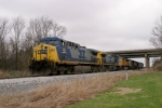 Q275 with 7 locomotives backs down the main to pick up their train 3/15/09