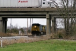 Q275 led by CSX 40 storms under the Natcher parkway southbound 3/15/09