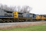 CSX 355 (AC44CW) is 2nd unit on Q275 southbound MP 118 2:25pm 3/15/09