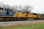 UP 8216 (SD9043MAC) is 3rd unit on Q275 south at MP 118 2:25pm 3/15/09