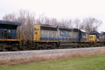 CSX 8087 (SD40-2) is 5th unit on Q275 south MP 118 2:25pm 3/15/09