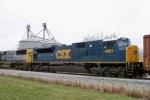 CSX SD80MAC 4601 (ex Conrail 4125) is 7th unit on Q275 south MP 118 2:25pm 3/15/09