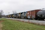 CSX Q275 approaches Sanderson 1 leaving Memphis Jct. 2:25pm 3/15/09