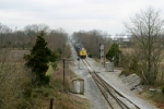 Q574 at SE Gossom siding 4:21pm 3/15/09 with 66 cars led by CSX 4538