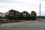 CSX 6432 is on J765 coming to a stop at Memphis Jct Yard while CSX 6470 is getting ready to move some cars 3/31/09