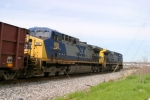CSX 482/CSX 106 take loaded ballast train WO80 north along Morgantown siding 4/4/09
