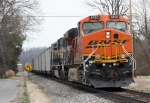 BNSF 6160 brings up the rear of a TXUX train on the KCS as I miss the front of the train as cabooses had my attention more