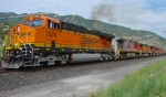 BNSF's Provo-Denver Manifest,Narrows,Utah July 24,2009.