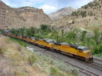 Union Pacific's Salt Lake City-Denver Manifest,Castle Gate,Utah (UTAH RAILWAY JUNCTION) July 24,2009.