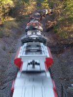 KCS train heading north towards Bono Arkansas