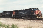 Parked coal train with two patches