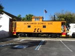 SCL Caboose on Static Display at the Phosphate Museum