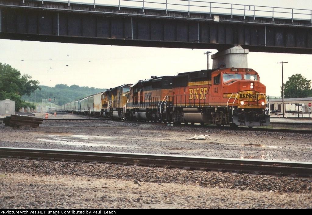 Eastbound stack train through Santa Fe Jct.