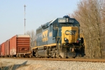CSX 6066 (GP40-2) on the former L&N Main (now CSX Louisville Division Mainline Sub) 3/17/09