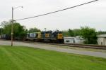 CSX 2703 leads Work Train WO32 4/30/09 12:20pm