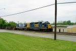 CSX work train WO32 is northbound near MP 134 on the Mainline Sub 4/30/09