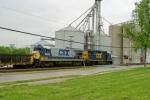 CSX B36-7 #5842 follows CSX 2703 leading work train WO32 at MP 134 on Mainline Sub