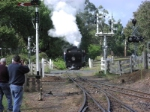 NA 8A Run back on to its train after spitting the train Taken by Allan Armstrong